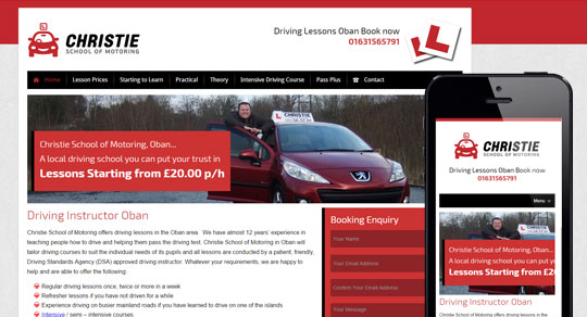 Christie School of Motoring CMS Website