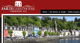 failte guest house website