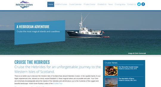 Hebrides Cruises Website Design