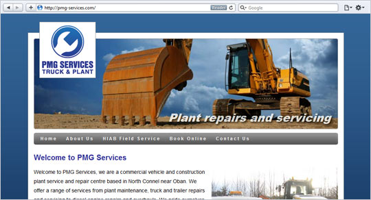 PMG Services Website Design